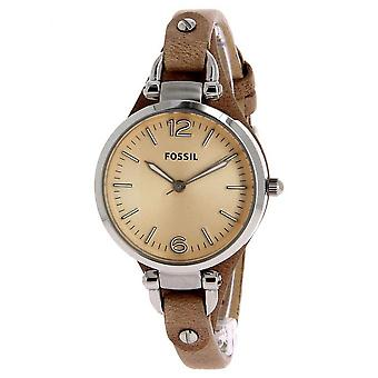 Fossil Leather Watch ES2830 - Women