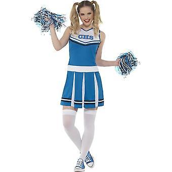 Cheerleader drakt, Fancy Dress, UK størrelse 4-6