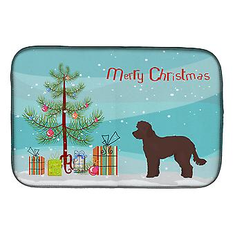 Carolines Treasures  CK3880DDM Whoodle #1 Christmas Tree Dish Drying Mat