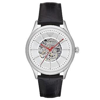 Emporio Armani Ar2072 MECCANICO musta nahka Automaattinen Miesten Watch