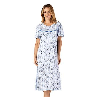 Slenderella ND4110 Mujeres's Jersey Floral Cotton Nightdress