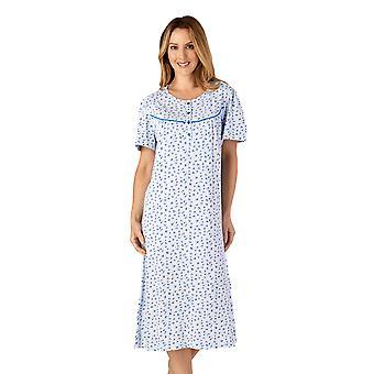 Slenderella ND4110 Women's Jersey Floral Cotton Nightdress