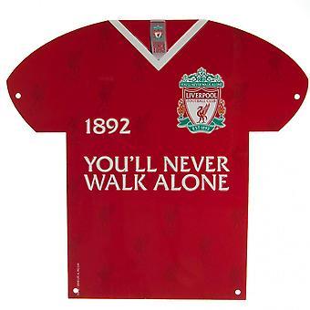 Liverpool FC Shirt Shaped Metal Sign