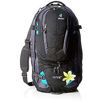 Deuter Traveller 60 - 10 SL - Unisex Backpacks Adult - Black (Black/Turquoise) - 24x36x45 cm (W x H L)