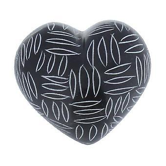 Svart och vitt kvicksilver hjärta design A