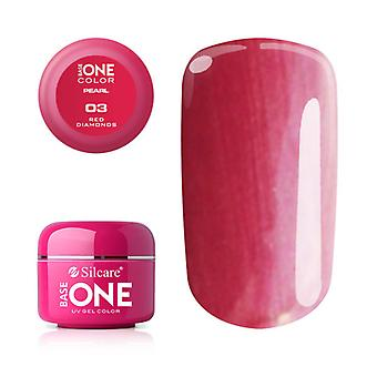 Base one-Pearl-Red Diamonds 5g UV gel