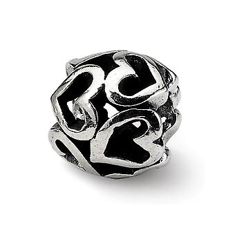 925 Sterling Silver Reflections Love Heart Bead Charm Pendant Necklace Jewelry Gifts for Women