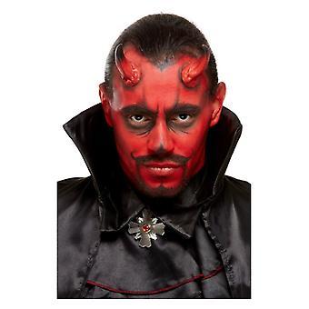 Halloween djævel make up kit med horn