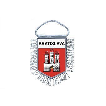 Fanion Mini Drapeau Pays Voiture Decoration Souvenir Blason Bratislava Slovaquie
