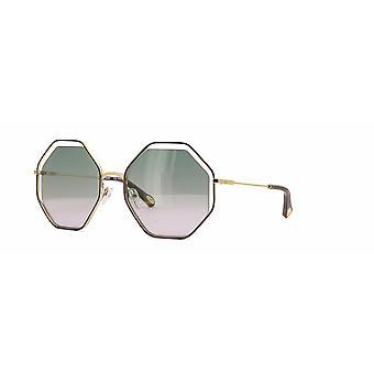 Chloe Poppy CE132S 240 Gold-Havana/Green Rose Sunglasses