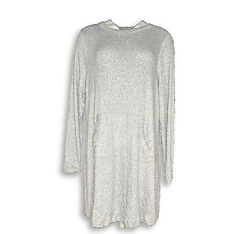 Anybody Women's Sweater Ribbed Brushed Hacci Tunic Gray A297427