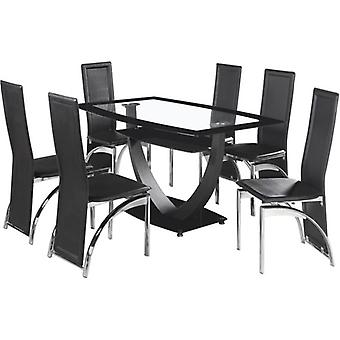 Henley Dining Set Black