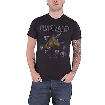 Logo de groupe Pink Floyd T Shirt Albums Montage nouvelle officiel Mens Black