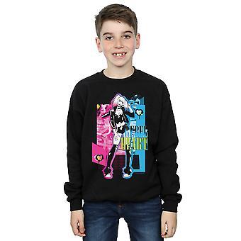 DC Comics Jungen Harley Quinn Rebel Herz Sweatshirt