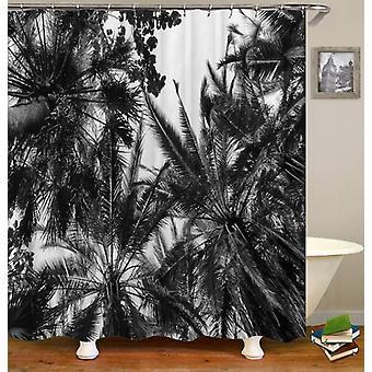 Svart hvit palmetrær dusj Curtain