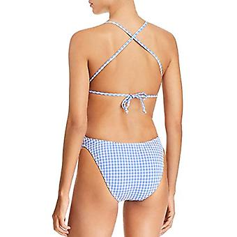 Nanette Lepore Women's Button Front One Piece Swimsuit, Azul,, Azul, Size Small