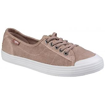 Rocket Dog Chow Chow Rye Ladies Cotton Casual Trainers Mauve