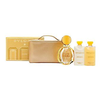Bvlgari goldea door Bvlgari voor vrouwen 4 delige set omvat: 3,04 oz Eau de parfum spray + 2,5 oz Body lotion + 2,5 oz douchegel + Reisetui