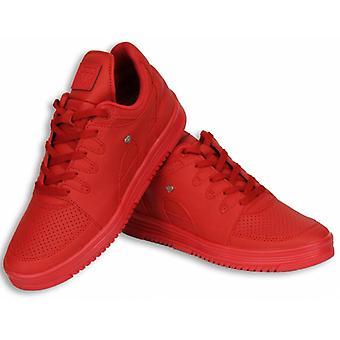 Zapatos - Zapatilla Baja - Estados Rojo Completo - Rojo