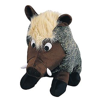"Petlou Plush Colossals Warthog Dog Toy 8"""