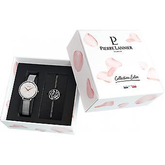 Cabinet Pierre Lannier 369F608 - case White Dial Watch + Bracelet steel woman