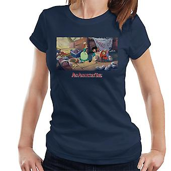 An American Tail Bridget Gives Fievel A Home Women's T-Shirt
