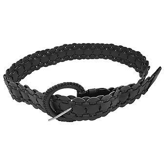 44mm negro mujeres cintura cinturón trenzado PU cuero