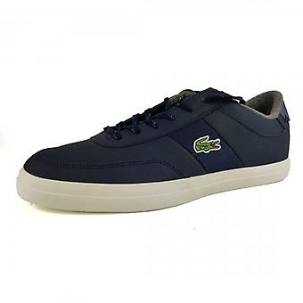 Lacoste Court-Master 319 Navy Blue Leather Trainers