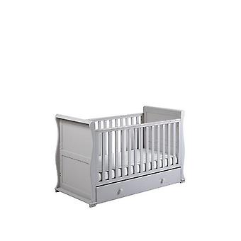 East Coast Alaska Sleigh Cot Bed Grey RRP £404.99
