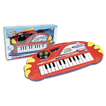 Bontempi Electronic Keyboard 22 Key With Light Effects Red