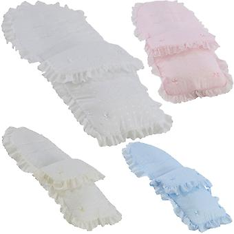 Universal Broderie Anglaise Pushchair Footmuff / Cosy Toes - Fits All Pushchairs / Prams And Buggies