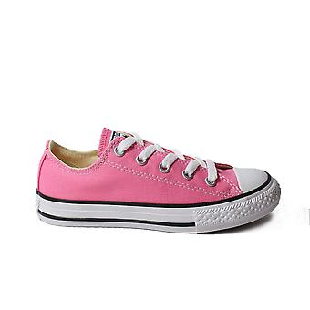 Converse Chuck Taylor All Star Ox 3J238C Pink Canvas Childrens Unisex Lace Up Shoes
