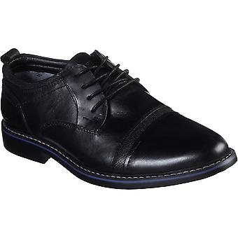 Skechers Mens Bregman Selone Lace Up Leather Dress Shoes