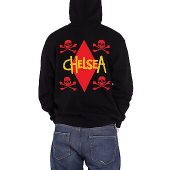 Chelsea Stand Out Skull and Crossbones Official Mens New Black Zipped Hoodie