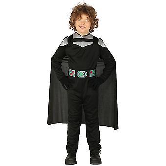 Pojkar Dark Knight Fancy Klänning kostym Samurai Warrior
