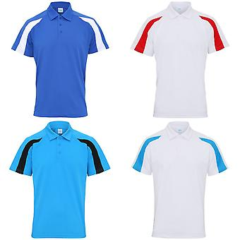 AWDis Just Cool Mens Short Sleeve Contrast Panel Polo Shirt