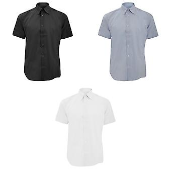 Russell Collection Mens Short Sleeve Easy Care Tailored Oxford Shirt