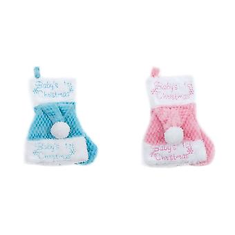 Christmas Shop Baby Unisex Hat And Stocking Set