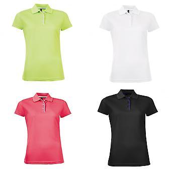 SOLS Womens/Ladies Performer Short Sleeve Pique Polo Shirt