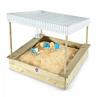 Plum Palm Beach Sand Pit with Canopy Wooden Sand Pit