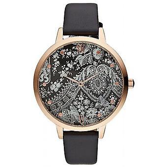 Charlotte Rafaelli CRR003 horloge - watch armband leer zwart Romance vrouw