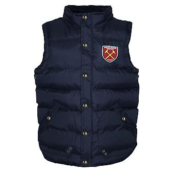 West Ham United FC Official Football Gift Boys wyściełane body warmer kurtka Gilet