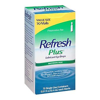 Refresh plus lubricant eye drops, single-use, 70 ea