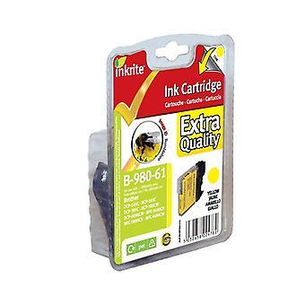 Inkrite imprimante encre pour Brother DCP145C DCP165C - LC61 LC65 de le LC980 LC1100 jaune (Bourdon)