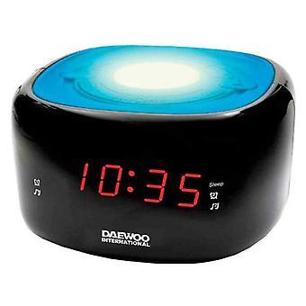 klokke-radio daewoo DCR-440BL LED FM blå