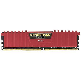 Memorias de escritorio de alto rendimiento Corsair Vengeance LPX, 32 GB (2 X 16 GB), DDR4, 3000 MHz, C15 XMP 2.0, Rojo