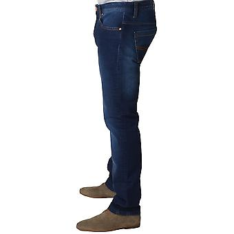 Claudio Lugli Blue Denim Gewassen Mens Jeans