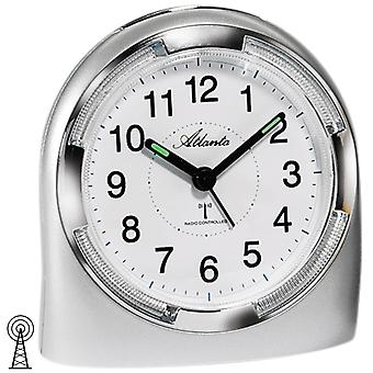 Atlanta 1404/19 alarm clock radio alarm clock silver analog with light Snooze