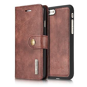 Fodral för iphone Se 2020 / iphone 8 / iphone 7 röd plånbok med magnetiserat lock