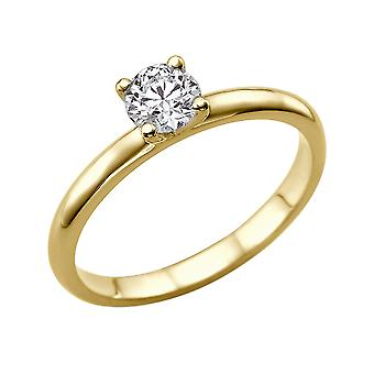 0.75 CT 6.00MM Forever One Colorless VVS Moissanite Engagement Ring 14K Solitaire Plain Classic